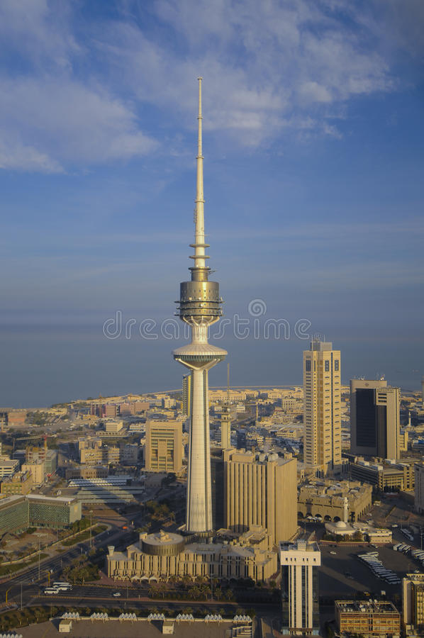 Kuwait from the Sky stock images