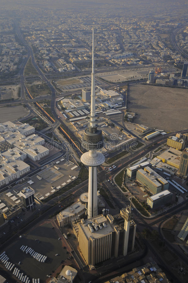 Kuwait from the Sky stock image