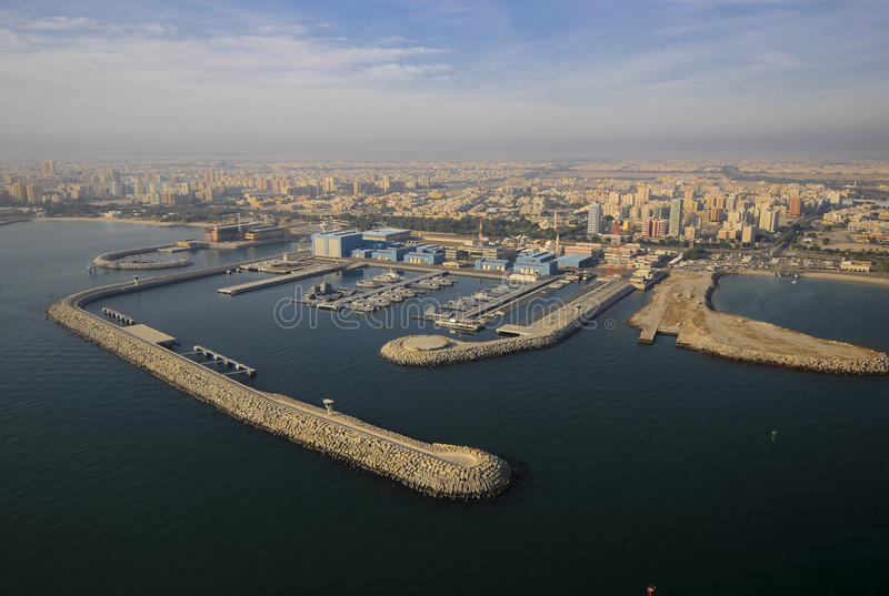 Kuwait from the Sky royalty free stock photo
