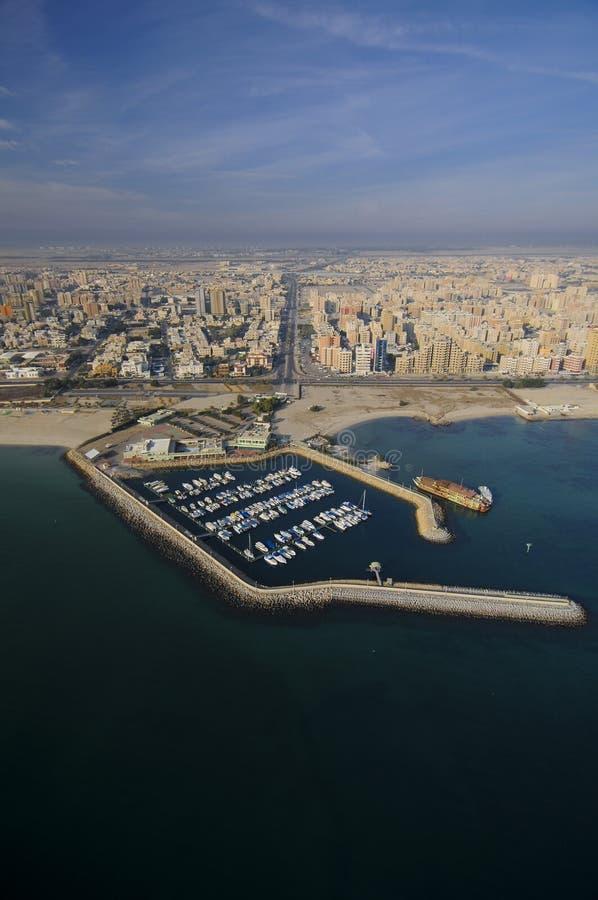 kuwait sky arkivbilder