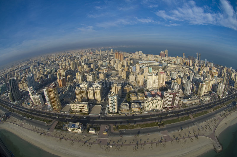Kuwait from the Sky. Kuwait city from the sky royalty free stock images