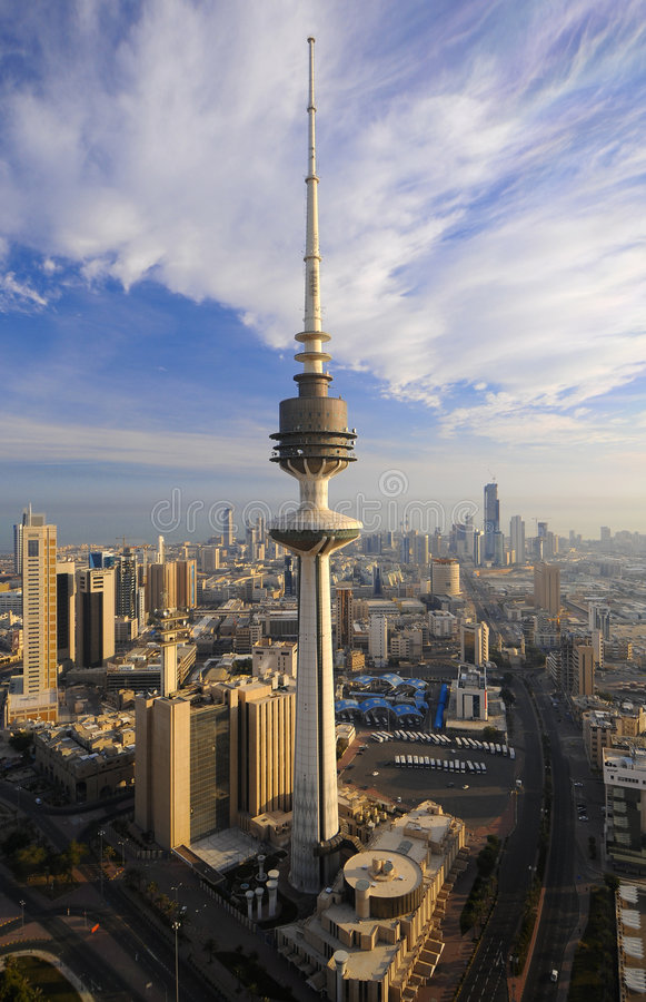 Kuwait from the Sky royalty free stock image