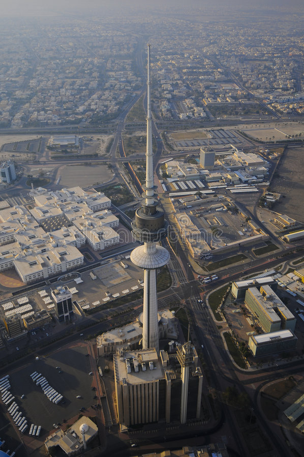 Kuwait from the Sky. Kuwait city from the sky stock photography