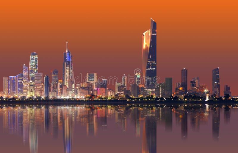 Kuwait-Stadtbildskyline lizenzfreies stockfoto