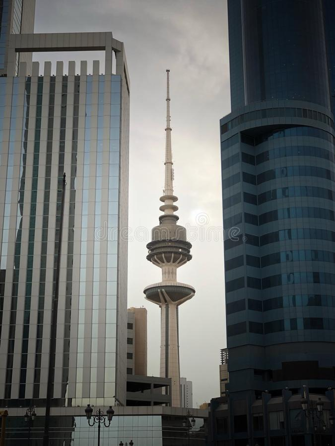 Kuwait-Türme lizenzfreie stockfotos