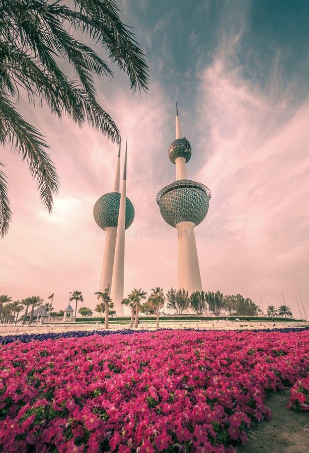 Kuwait-Türme stockfoto