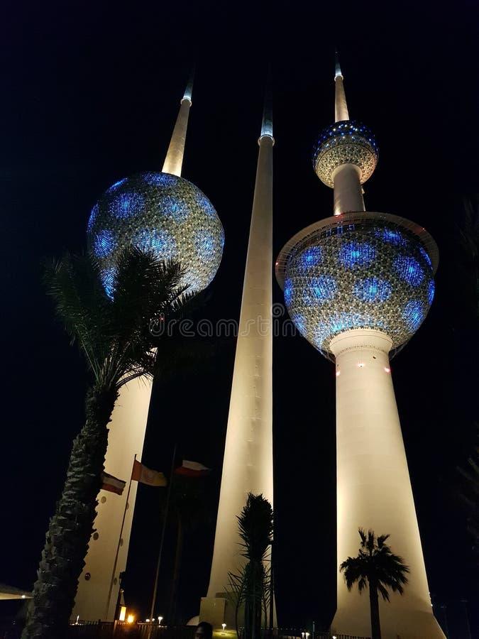 Kuwait-Türme lizenzfreies stockfoto