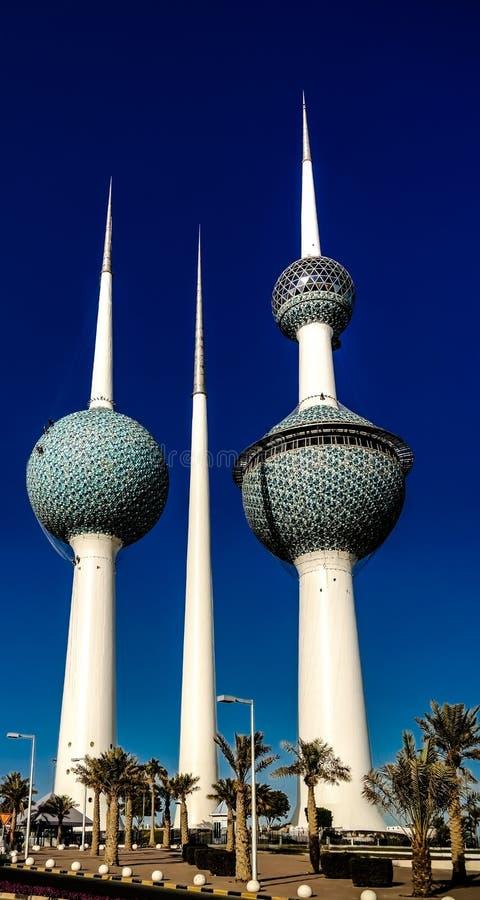 Kuwait torn, vattenbehållare royaltyfri foto