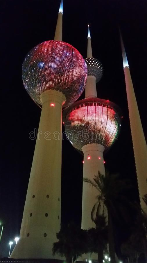 Kuwait Towers royalty free stock photography