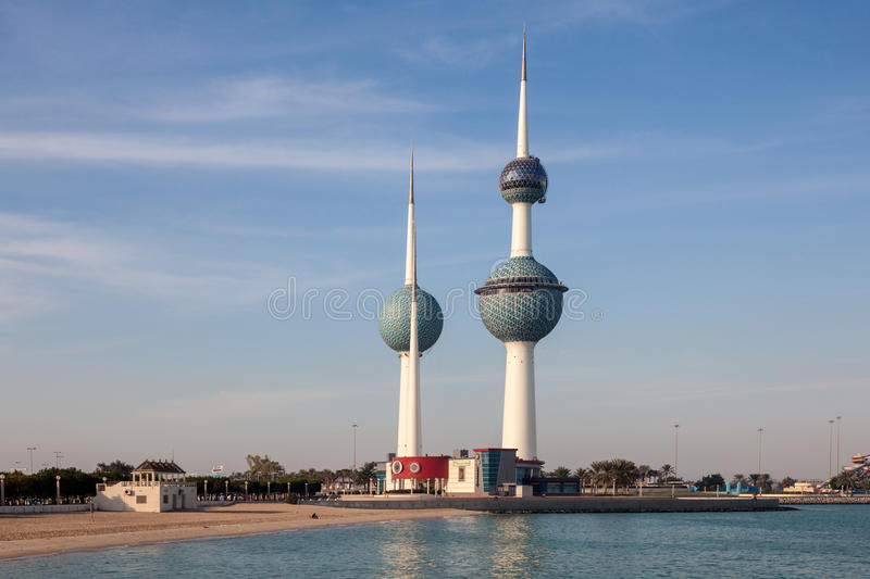 The Kuwait Towers royalty free stock images