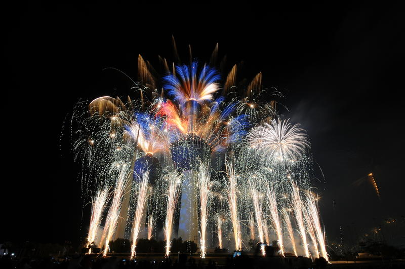 Download Kuwait Towers Fire work stock image. Image of kuwait - 21695433