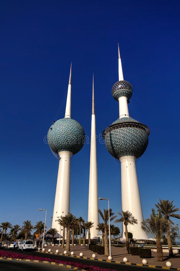 Kuwait Towers,Water reservoir stock photo