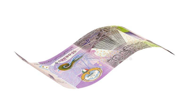 Kuwaitiska 5 dinar sedlar royaltyfri fotografi