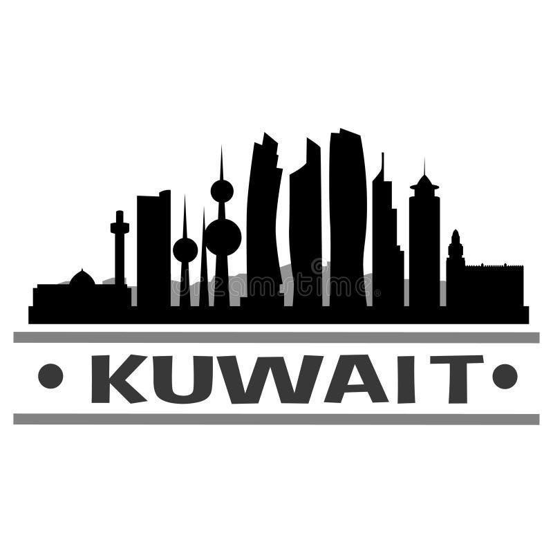 Kuwejt ikony sztuki Wektorowy projekt ilustracja wektor
