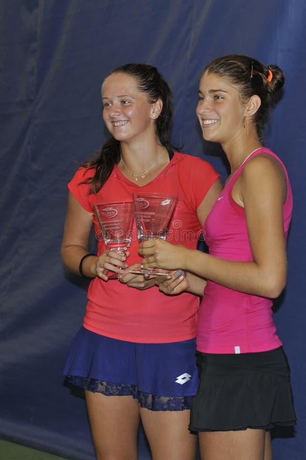 Kuzmova & Pospelova junior USOPEN 2015 arkivbilder