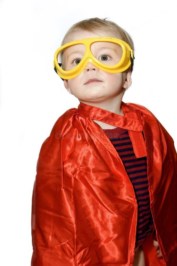 Kvällsmålhjältepojke fotografering för bildbyråer