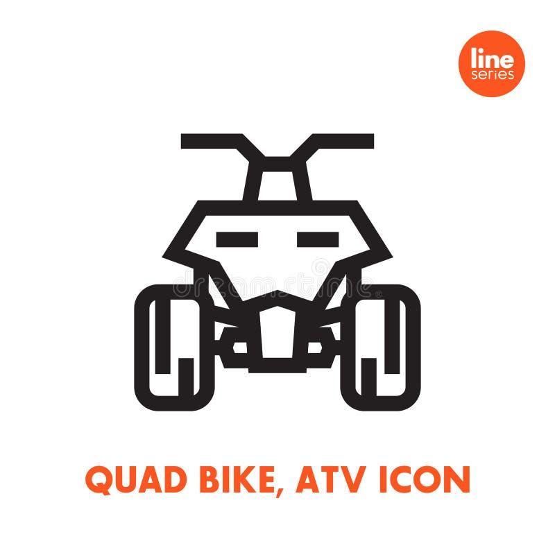 Kvadratcykelsymbol, allt terrängmedel ATV royaltyfri illustrationer