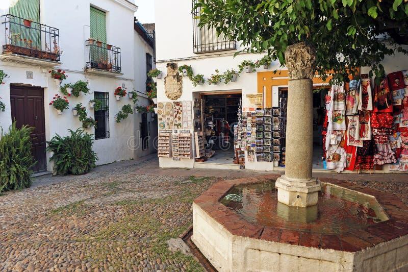 Kvadrera från blommorna, Cordoba, Spanien royaltyfria bilder