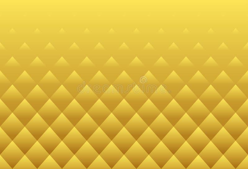 Kvadrerar lyx- textur för den guld- modellen för lotusblommabuddha abstrakt begrepp lyxiga stock illustrationer