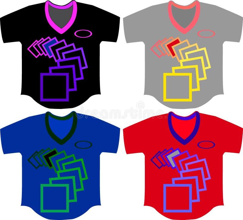 kvadrerat och t-skjorta royaltyfria bilder