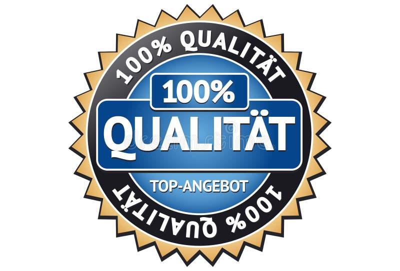 kvalitet för 100 etikett royaltyfri illustrationer