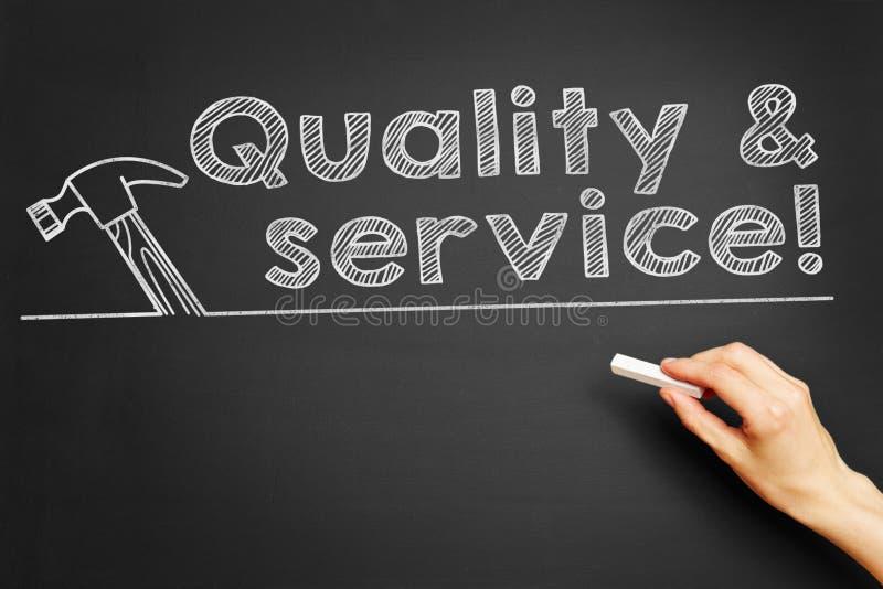 Kvalitet & service! stock illustrationer