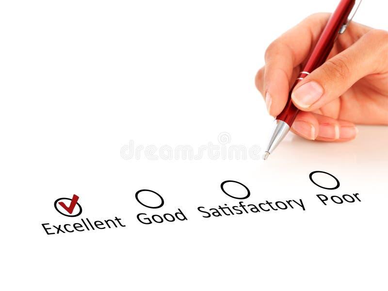 Kvalitets- kontroll. royaltyfri bild