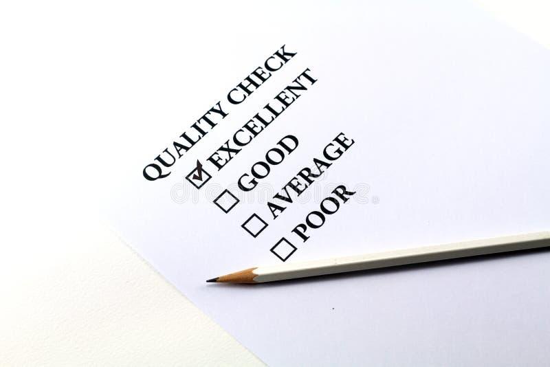 kvalitets- kontroll royaltyfri foto