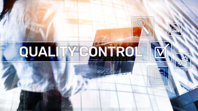 Kvalitets- kontroll och försäkring standardisation guarantee normal Affärs- och teknologibegrepp vektor illustrationer