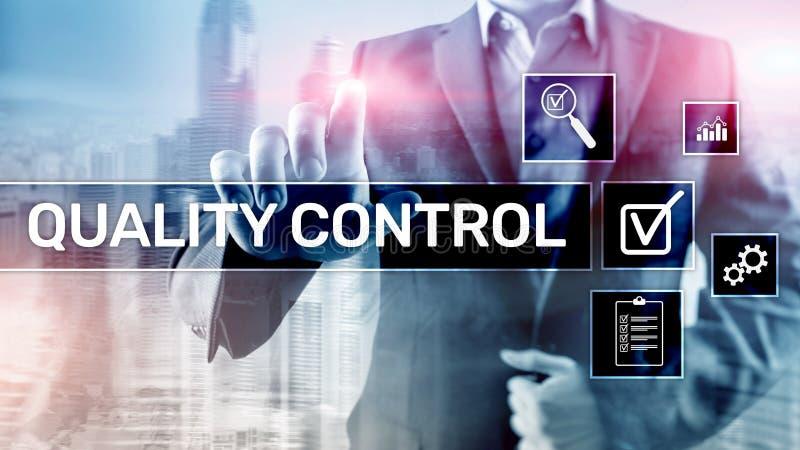 Kvalitets- kontroll och försäkring standardisation guarantee normal Affärs- och teknologibegrepp stock illustrationer