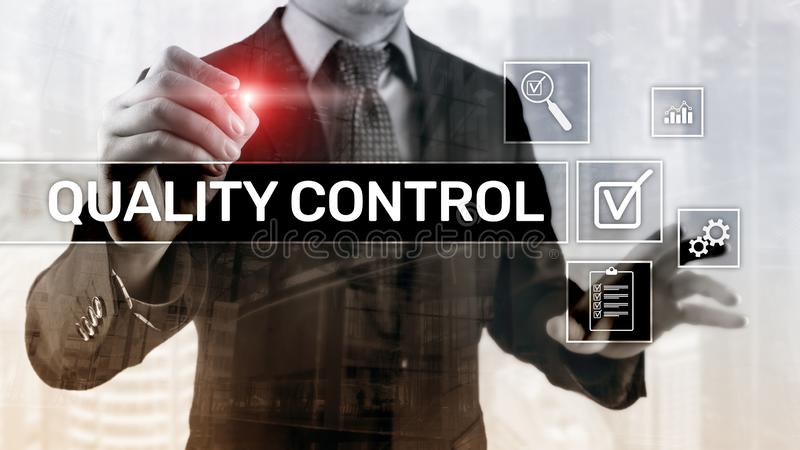 Kvalitets- kontroll och försäkring standardisation guarantee normal Affärs- och teknologibegrepp royaltyfri illustrationer