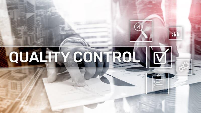 Kvalitets- kontroll och f?rs?kring standardisation guarantee normal Aff?r och teknologi vektor illustrationer