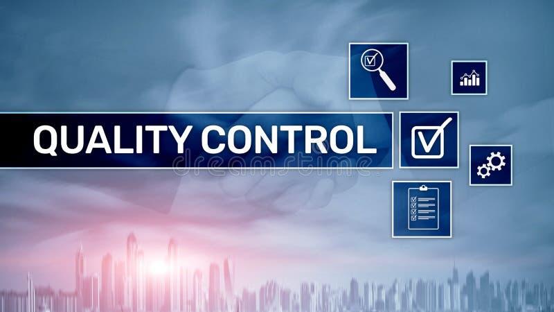 Kvalitets- kontroll och f?rs?kring standardisation guarantee normal Aff?rs- och teknologibegrepp royaltyfri illustrationer