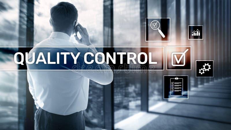 Kvalitets- kontroll och f?rs?kring standardisation guarantee normal Aff?rs- och teknologibegrepp vektor illustrationer