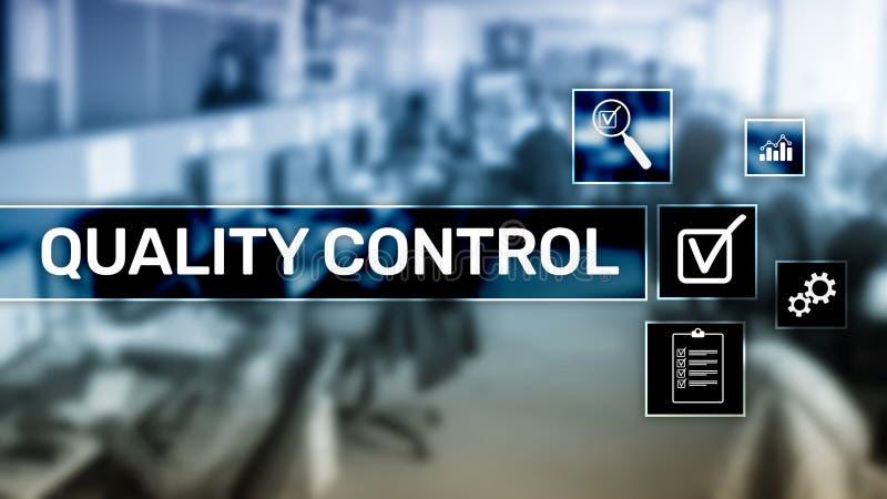 Kvalitets- kontroll och f?rs?kring standardisation guarantee normal Aff?rs- och teknologibegrepp stock illustrationer