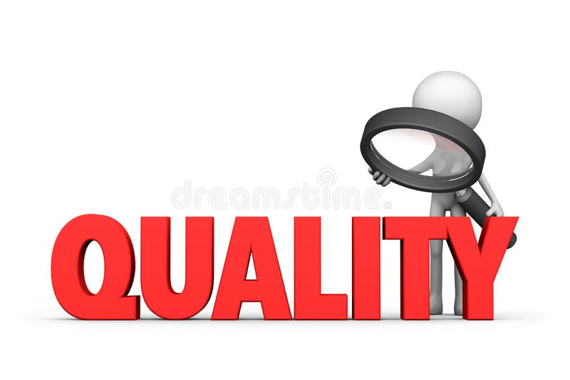 Kvalitets- kontrollera stock illustrationer