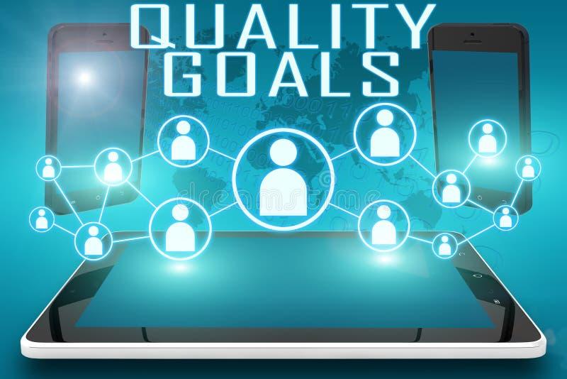 Kvalitets- mål stock illustrationer