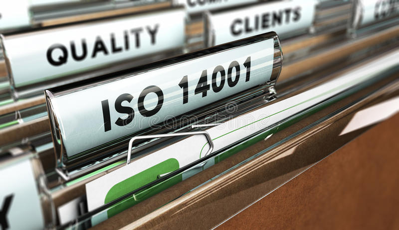 Kvalitets- normal, ISO 14001 stock illustrationer