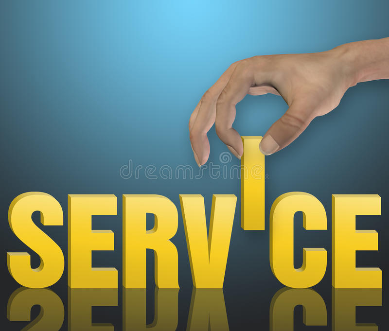 Kvalitets- service stock illustrationer