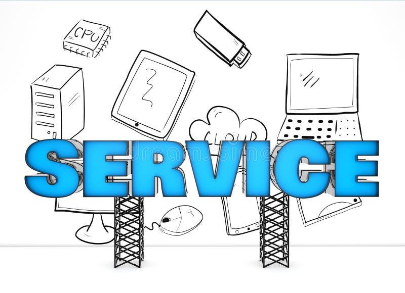 Kvalitets- service vektor illustrationer