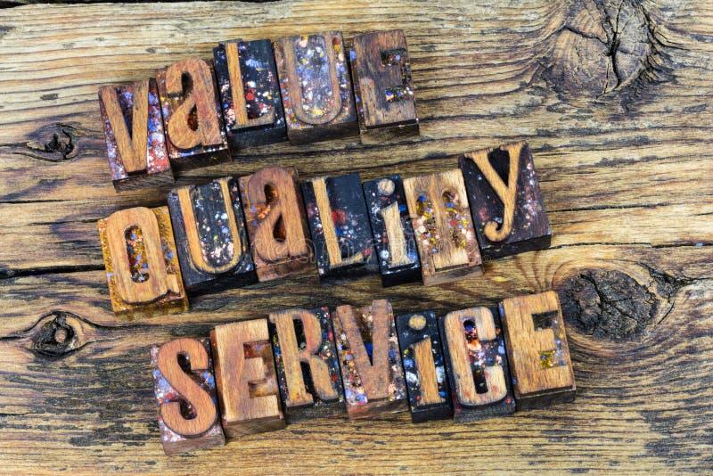 Kvalitets- service för kundvärde arkivfoto