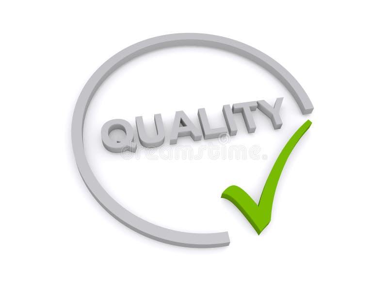 Kvalitets- tecken arkivbild