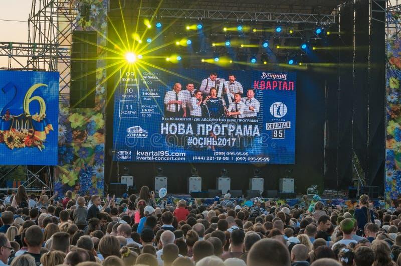 95 kvartal en Kramatorsk, Ucrania fotos de archivo libres de regalías