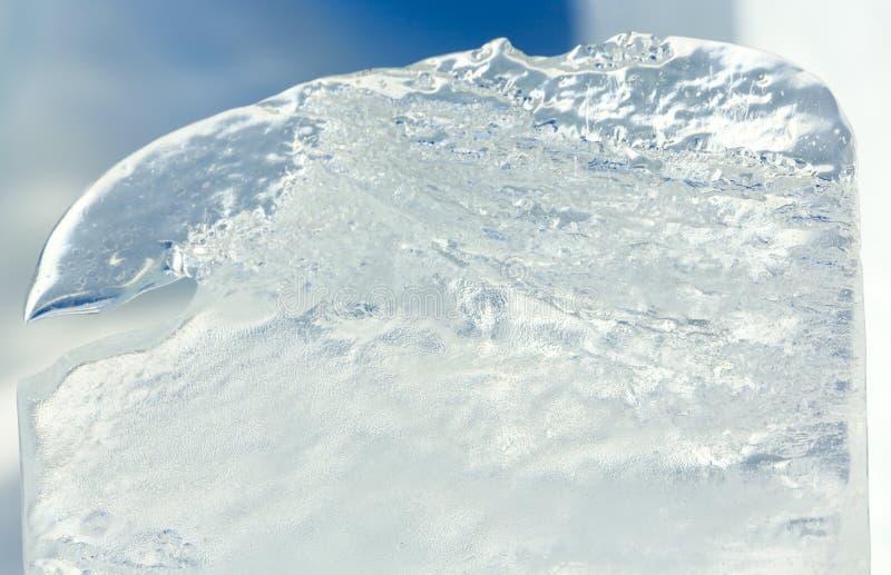 Is- kvarter av iscloseupen fotografering för bildbyråer