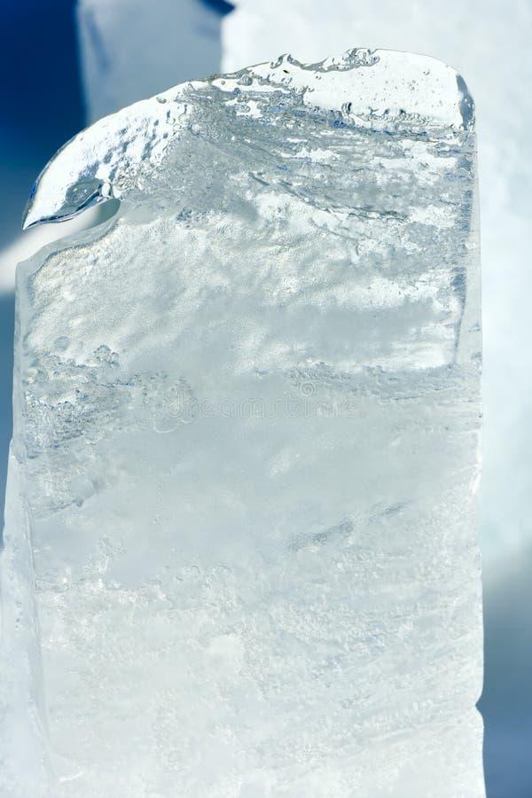 Is- kvarter av iscloseupen royaltyfri bild