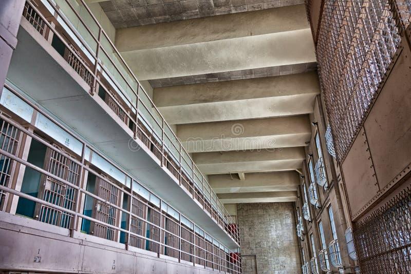Kvarter D för Alcatraz fängelsecell royaltyfria foton