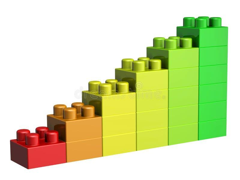kvarter för lego 3D stock illustrationer
