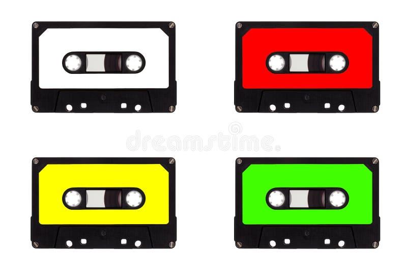 Kvartett av kassettband arkivfoto