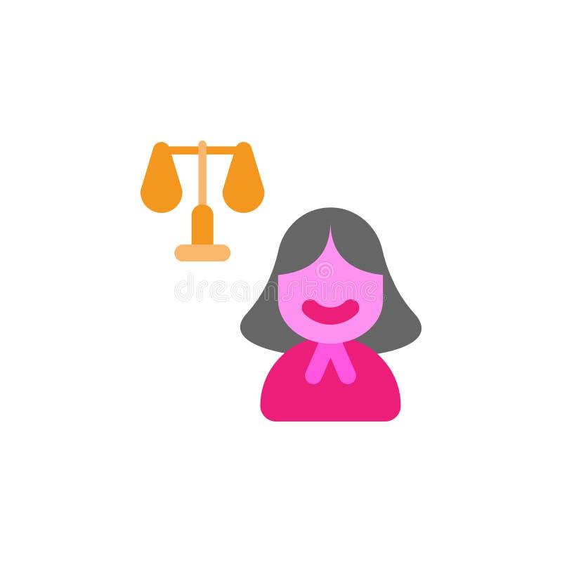 Kvinna \ 's-dag, rättvisasymbol Beståndsdel av färgkvinnan \ 's-dagsymbolen Högvärdig kvalitets- symbol för grafisk design tecken stock illustrationer