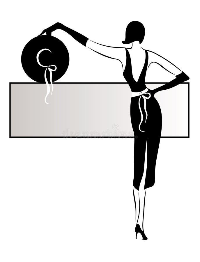 kvinna royaltyfri illustrationer